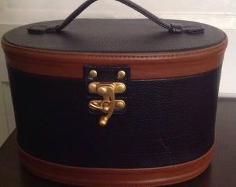 Vintage Betony Train Case, Makeup Case, Vanity Case, Women's Luggage, Women's Accesories