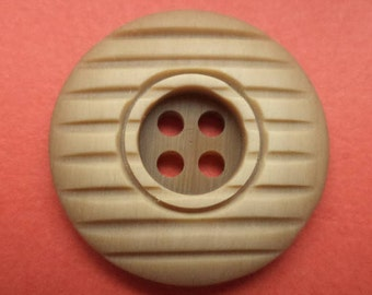 6 light brown buttons 23mm (6271) Brown