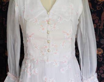 Organdy 1950 wedding dress