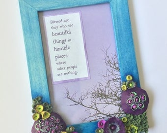 Fantasy Garden | Inspirational Quote in Colorful Otherworldly Frame