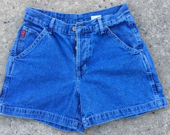 90s Style LEI Denim Mid Rise Workwear Button Fly Shorts - Size 5