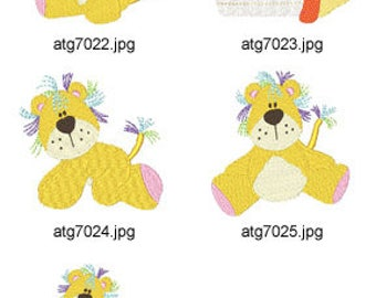 Baby-Leo ( 5 Machine Embroidery Designs from ATW ) XYZ17D