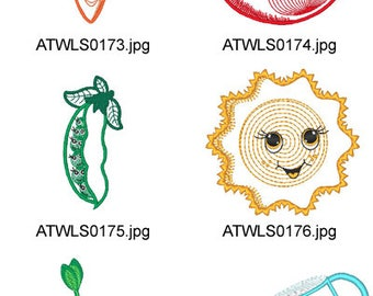 Home-Grown-Applique ( 9 Machine Embroidery Designs from ATW ) XYZ17E