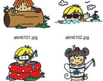 Summer-Fun-Peeks ( 7 Machine Embroidery Designs from ATW )  XYZ17E
