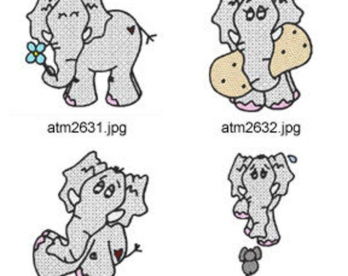 Edward-the-Elephant ( 7 Machine Embroidery Designs from ATW )  XYZ17C