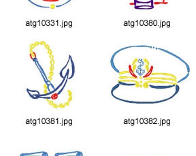 Art-Deco-Marine ( 10 Machine Embroidery Designs from ATW ) XYZ17D