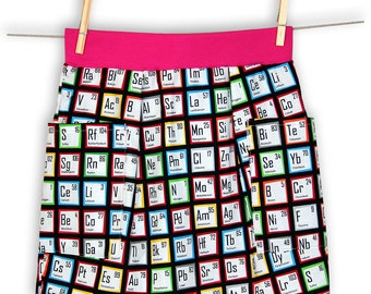 Chemistry Periodic Table Unisex Pocket Skirt