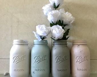 4 Chalk Mason 1L Quart Size Jars