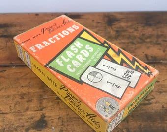 Vintage Fractions Flash Cards