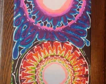 neon sunflowers-long canvas