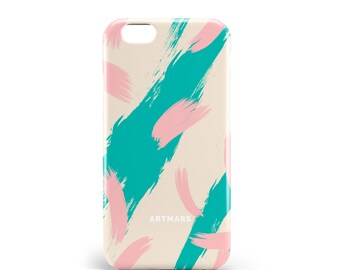 Coque Brush Rose | PVC | iPhone 6s, 6s Plus, 7, 7 Plus, 8, 8 Plus | Samsung S6, S6 Edge, S7, S7 Edge, S8, S8+, illustration, design, hipster