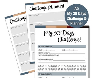 A5 My 30 Days Challenge & Planner Printable