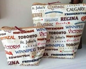 Capitals of Canada Project Bag and Matching Notion Pouch