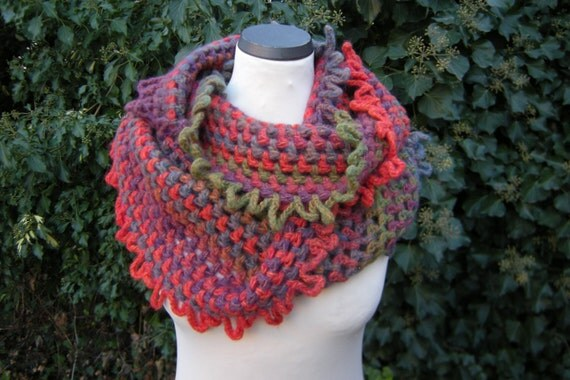 Colorful colorful loop scarf, infinity scarf