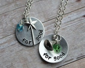 "Wicked the musical inspired ""for good"" necklace or keychain - single or pair"