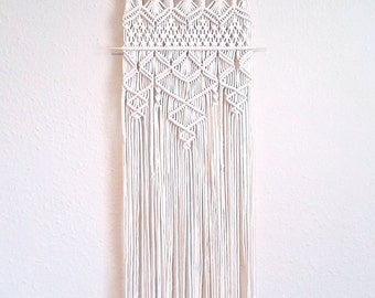 "CROSSROADS |:| thin macrame wall hanging | boho home decor | 12"" wide 