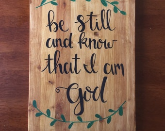 be still and know that I am God wall hanging, home decor, decoration, christian art, psalms 46:10