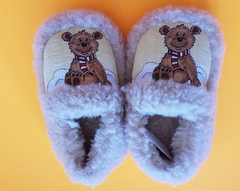 toddler slippers | children slippers | home child slippers | wool slippers