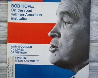 Vintage Life Magazine - Bob Hope collectible - Paper Ephemera - Vintage advertising - Bob Hope - 1971 - Retro decor - 1971 Life Magazine