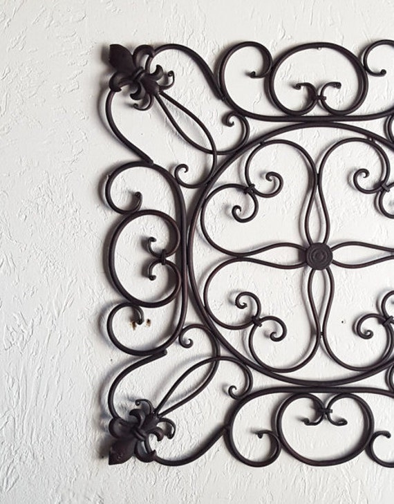 Metal Fleur De Lis Wall Hanging Metal Wall Art Black Home