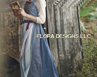 Belle dress Belle Costume beauty and the beast 2017 new movie dress