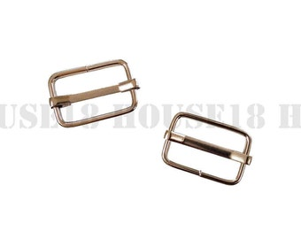 "20mm 0.79"" Movable Bar Slide Strap Adjuster Rectangle Slider Suspender, Handbag, Purse Hardware Bag Making Supplies Wholesale"