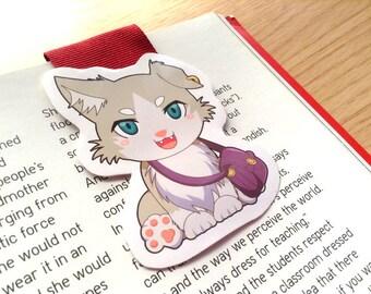 Re:Zero Puck magnetic bookmark, Puck bookmark, anime magnetic bookmark, Re Zero bookmark, magnetic bookmark, anime bookmark, cat bookmark