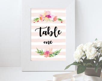 Floral wedding table numbers, Wedding seating chart, Wedding table cards, Table number card, Wedding table decor, Reception table numbers