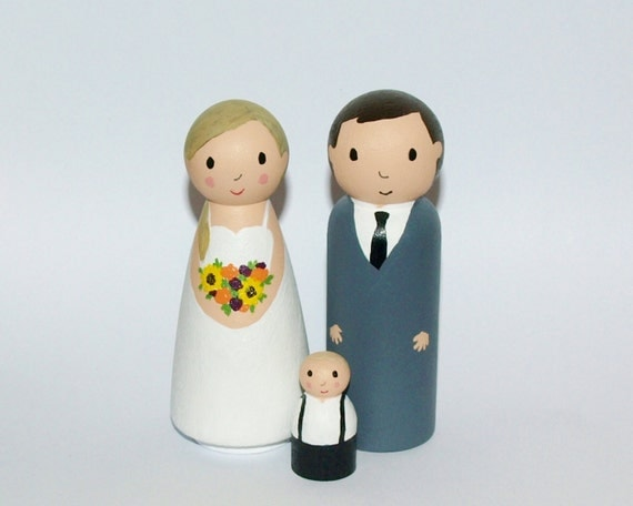 wedding cake toppers with children wedding cake topper with child custom family figurine 26629