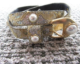 Lace and Pearl detail Belt Late 80's Early 90's