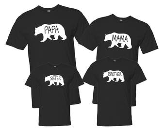 Bear Family Shirts, Mama Bear, Papa Bear, Baby Bear, Matching Family Shirts