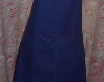 RESERVE grand old work apron or vintage, blue, baby bib