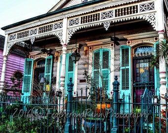 New Orleans Art, New Orleans Photography, New Orleans Prints, New Orleans Houses, French Quarter Art, French Quarter Houses, NOLA ART, color