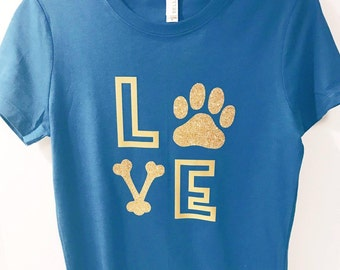 Dog Lover Gift - Dog Gift - Paw Print Shirt - Dog Tshirt - Paw Shirt - Dog Bone Shirt - Girlfriend Gift - Dog Shirt -Dog Shirt