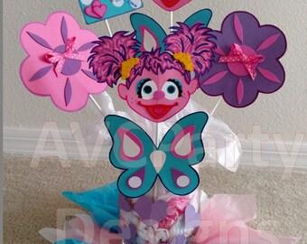 Sesame street Cookie monster, Abby Cadabby Birthday Party Decoration Centerpiece