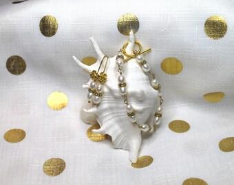 Bespoke freshwater pearl and swarovski crystal bracelet