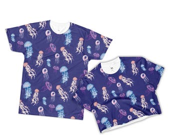 Jellyfish Shirt Jelly fish Crop Top Jelly Fish Print T-shirt Ocean