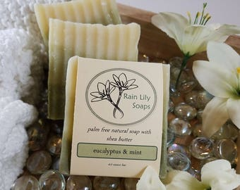 Eucalyptus Mint Natural Palm Free Soap, Handcrafted Soap, Palm Free Soap, Natural Soap, Vegan Soap, Essential Oil Soap