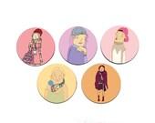 Girl power stickers - feminism - girl power - girl gang - emoji sticker - gift - cool sticker - cute - planner - decal - cute - sticker