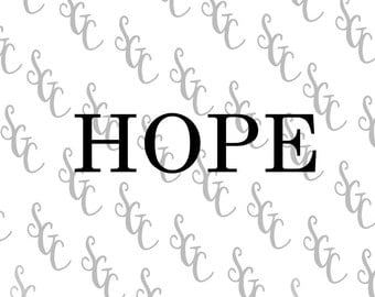Reusable Stencil - HOPE - Many Sizes to Choose from!