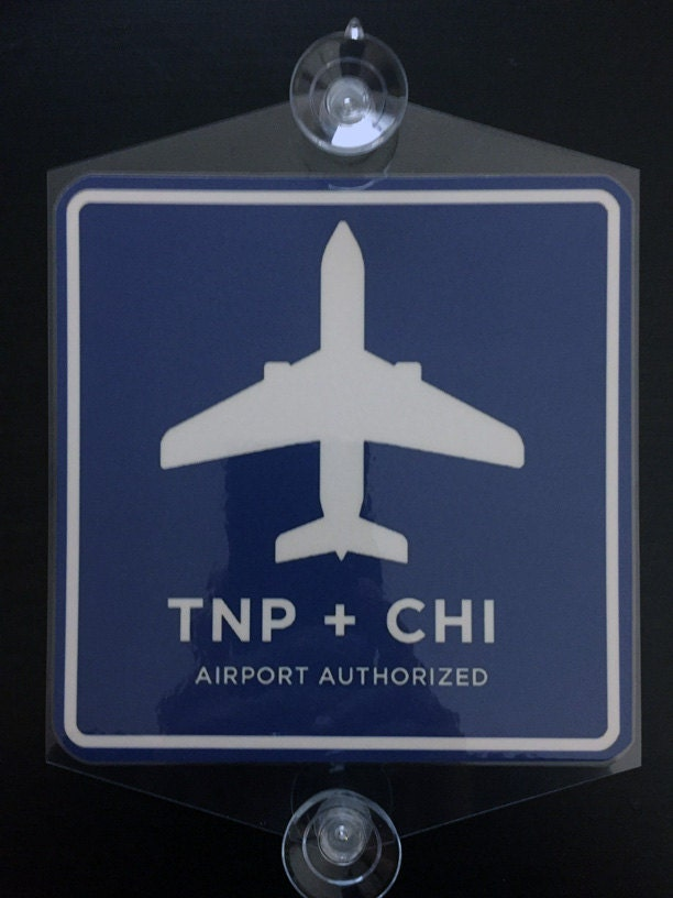 Uber Vehicle List >> Removable TNP CHI 6x6 sign rideshare chicago airport rear