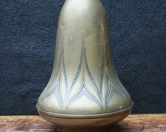 patinated copper Art Nouveau vase, Meine Huizinga for D, Tiel, Holland, 1910.