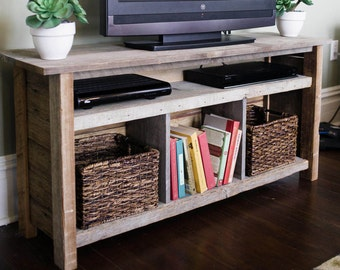Reclaimed wood TV stand/bookshelf