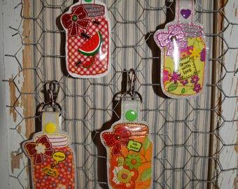 CUSTOM Mason Jar With Bow Keychain OR Fridge Magnet/ Customize just for you!