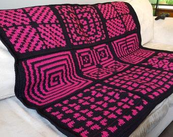 Pink and Black Blanket; Target; Criss Cross