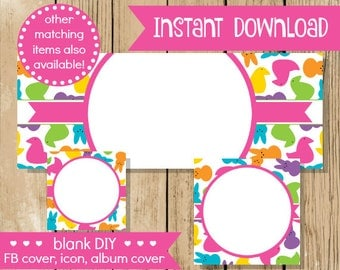 Blank diy facebook set pink gold hearts do it yourself blank diy facebook set easter peep do it yourself blank facebook cover bunny solutioingenieria Image collections