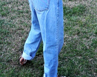 Vintage GUESS JEANS High Waisted Buttom-Up Faded Denim Jeans - Size 2