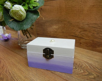 Personalized Wedding Ring Box Ombre