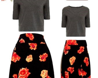 Mother Daughter Matching Skirts, mommy and me matching floral print skirt mothers day matching outfits