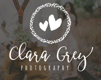 Heart Photography Logo and Watermark, Photographer Logo, Photography Logo, Rustic Logo Watermark, Watermark Logo, Premade Photography Logo